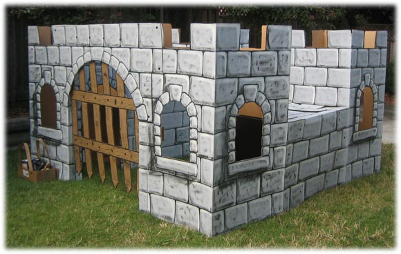 How to build a cardboard castle for Build a castle home