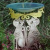 Whimsical Cat Pedestal Birdbath