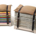 Hockenheimer magazine or newspaper storage stools by NJUStudio