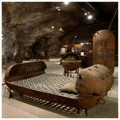 Mati Karmin bed made from old marine mines