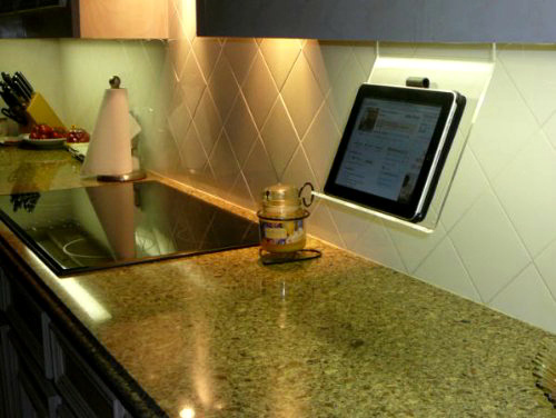 Clearly the Best Kitchen iPad Stand for Small Spaces