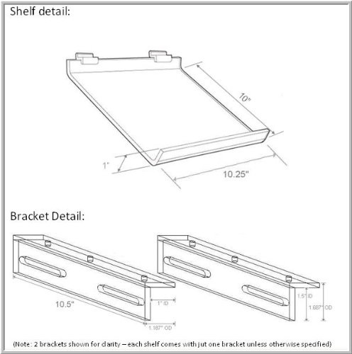 Schematic diagram for The Original Kitchen iPad Rack and acrylic mount